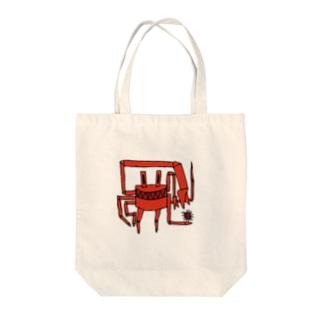 カニ Tote bags