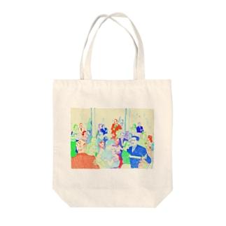古屋智子(TomokoFuruya)のJazz Party(ベージュ) Tote bags