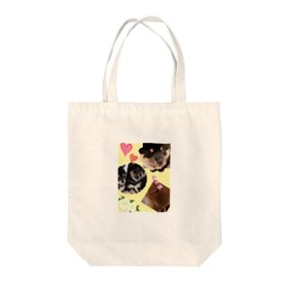 わんこ Tote bags