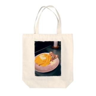柚桜のお昼寝くまさん Tote bags