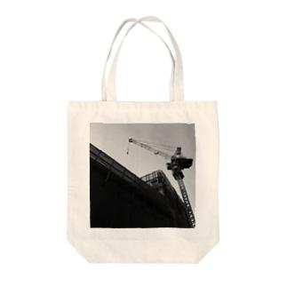 サイのひとの本日のクレーン 20140408d Tote bags