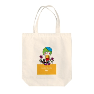 girl with cat Tote bags