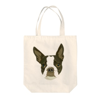 ボストンテリア Tote bags
