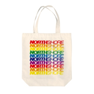NORTH SHORE rainbow Tote bags