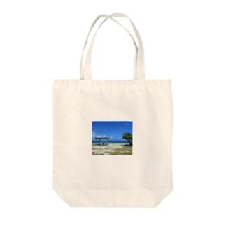 喜界島ビーチ Tote bags