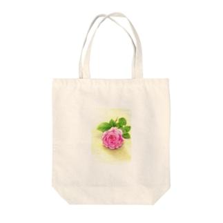 一輪の薔薇 トートバッグ