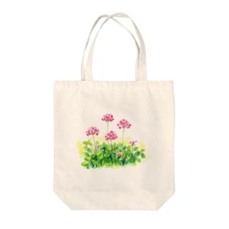 レンゲ草 Tote bags
