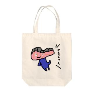 しゃけくん Tote bags