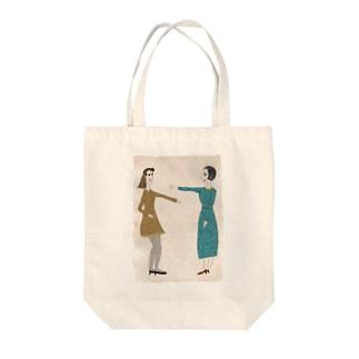 女子と女史 Tote bags