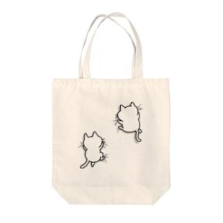 ねこガシッ Tote bags