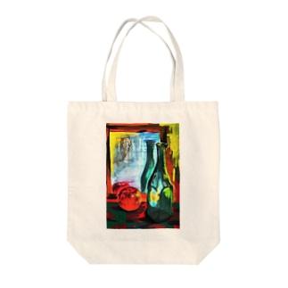 りんごとビンと台所 Tote bags
