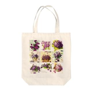 アンティークスミレ Tote bags