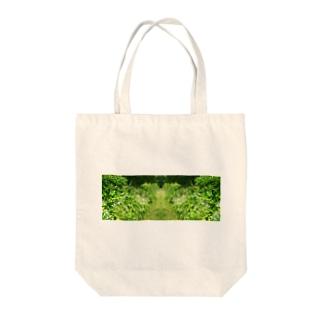 道に寄せて Tote bags