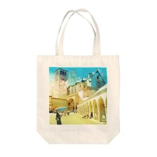 マドンナ・リリー Tote bags