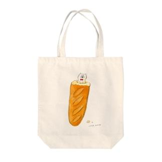 落ち着くネコ Tote bags