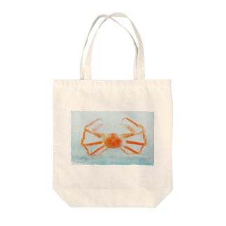 ひろのカニ Tote bags