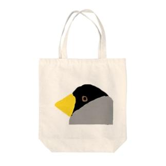 イカルくん Tote bags