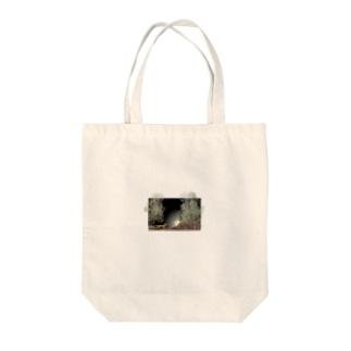 月夜の狐 Tote bags