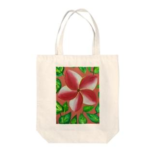 pink flower Tote bags