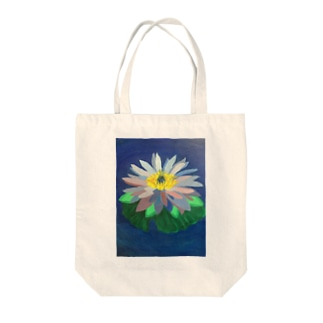 a lotus Tote bags