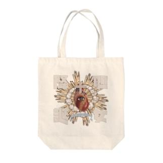 処女降誕 Tote bags