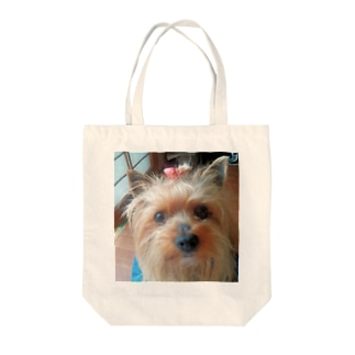 ヨーキーのランちゃん Tote bags