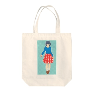 red blue Tote bags