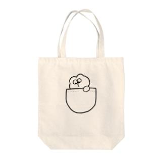いぬとお出かけ Tote bags