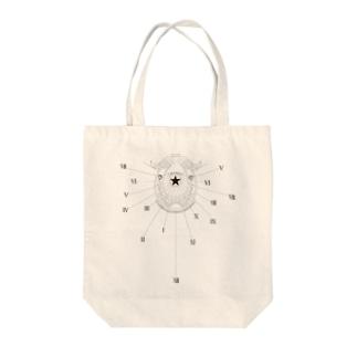時ヲ刻ムコレクション(黒) Tote bags