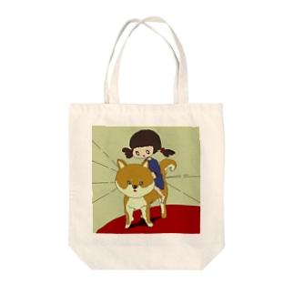 わんこ! Tote bags