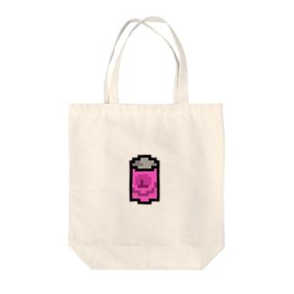桃のジュースの缶 Tote bags