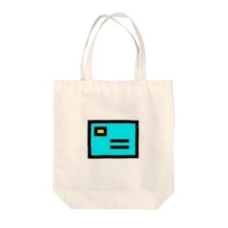 水色のカード Tote bags