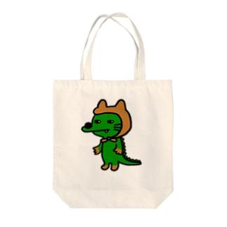 わにゃ Tote bags
