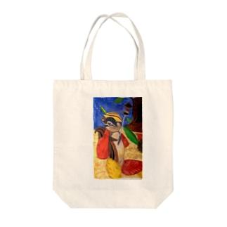 りす騎士 Tote bags