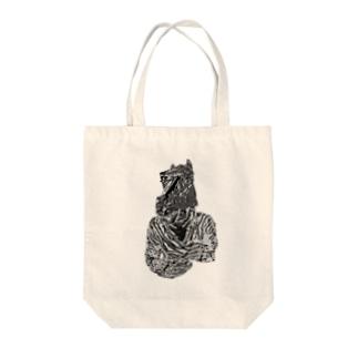馬カレー Tote bags