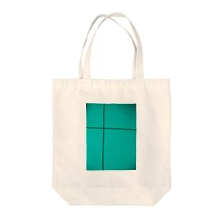 クロスライン(ミント) Tote bags