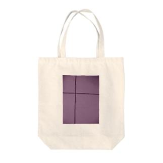 クロスライン(藤) Tote bags