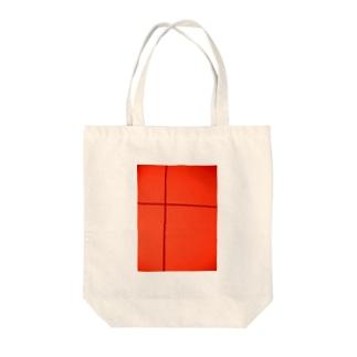 クロスライン(ほうずき) Tote bags