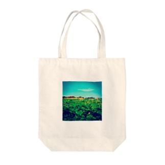 クサブンノソラ Tote bags
