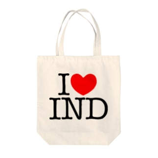 I LOVE IND Tote bags