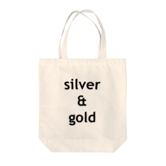 silver & gold Tote bags