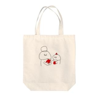 りんごをわけよう Tote bags