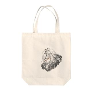 眼鏡のかぼちゃん(フード) Tote bags