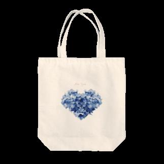 こんなの欲しいをご提供!ArtDesiartのハートのあじさい Tote bags