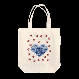 こんなの欲しいをご提供!ArtDesiartのあじさいカーネーション Tote bags