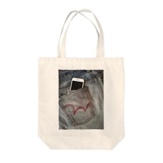 ジーンズポケットiPhone Tote bags
