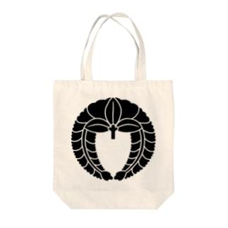 家紋 下り藤 Tote bags