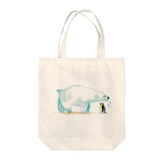 しろくまさん Tote bags
