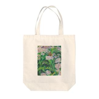 野地菊に蝶 Tote bags