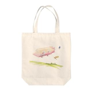 飛行船 Tote bags